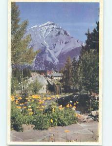 Pre-1980 TOWN VIEW SCENE Banff Alberta AB p9240