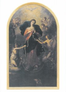 Post card St Peter am Perlach Augsburg Mary untier of knots