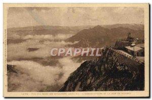 Old Postcard Pic du Midi de Bigorre L & # 39observatoire and the sea of 