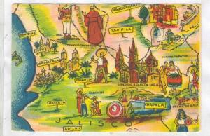 Artist Signed, Miguel Gomez Medina, Pictorial Mapa de Jalisco, Mexico, 00-10s