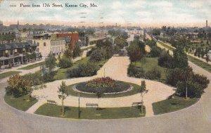 KANSAS CITY, Missouri, PU-1910; Paseo From 17th Street