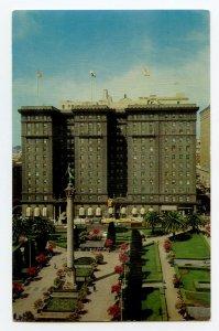 Postcard St. Francis Hotel Union Square San Francisco CA Standard View Card
