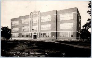 Belmond, Iowa RPPC Real Photo Postcard HIGH SCHOOL Building View c1910s Unused