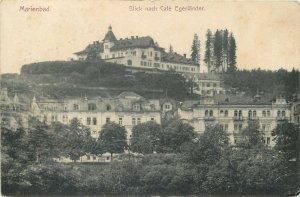 Postcard Czech Republic Marienbad Cafe Egerlander