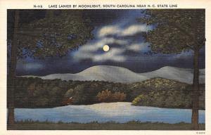 USA Lake Lanier by Moonlight, South Carolina near N. C. State Line