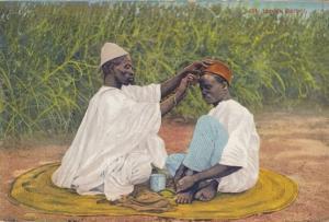 Nigerian Aso Oke Yoruba Tribe Religious Hat Antique Nigeria Postcard