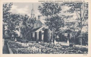 WILLIAMSBURG, Virginia, 1900-1910's; Gardens And Royal Governors Palace