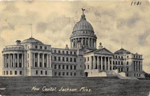 Jackson Mississippi~New Capitol Building~c1910 Postcard