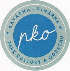 Czechoslovakia Kavarna Vinarna Park Kultury Oddechu Vintage Luggage Label sk4411