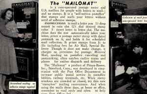 US    PC756 THE MAILOMAT, PITNEY-BOWES