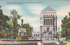 Indiana Indianapolis De Pew Fountain In University Park