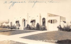 F1/ Hollywood California Postcard Real Photo RPPC c20s Tom Moore Home