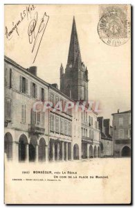 Old Postcard Monsegur near the Reole A corner of the market place