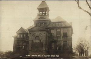 Falls Village CT Hunt Library c1910 Real Photo Postcard jrf