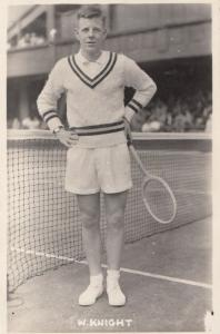 Billy Knight Tennis Player Antique Plain Back Postcard Photo