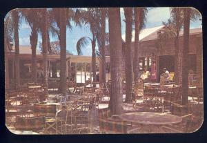 Largo, Florida/FL Postcard, Palm Garden Restaurant, Outdoor Dining Patio