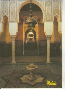 Postal 011630: Meknes, une cour du Mausolee de Moulay Ismail