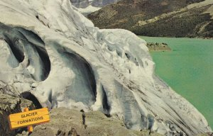 ICEFIELD Crevasse Formations , Alberta , Canada 1950-60s