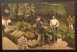 Postcard Unused Fruit Stand Havana Cuba No 7 LB