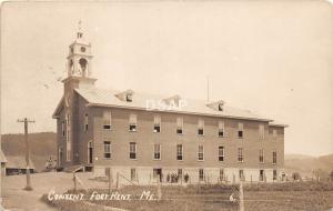 A71/ Fort Kent Maine Me RPPC Real Photo Postcard 1913 Convent Building