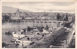 Switzerland Geneve Quai du Mont-Blanc et vue sur la Ville 1942