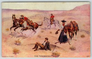 JV McFall~The Tenderfoot~Elegant Gent Falls From Horse~Cowgirl Helps~Western~'07