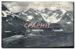 Postcard Old Railroad Paris Lyon Mediterranee Route des Alpes The Lautaret Me...