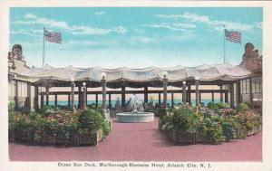 New Jersey Atlantic City Ocean Sun Deck Marlborough Blenheim Hotel