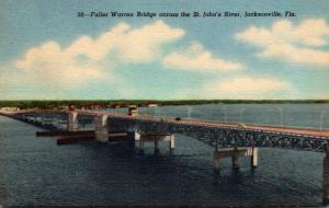 Florida Jacksonville Fuller Warren Bridge Across St John's River Curteich