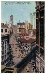 USA - Herald Square Looking up Broadway Hotel McAlpin in Foreground 01.84