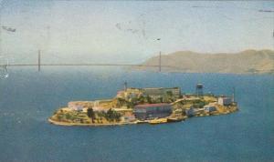 The Rock  Alcatraz Island San Francisco Bay California 1952