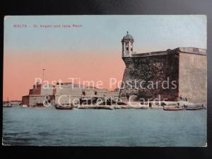c1918 Malta: St. Angelo and Isola Point