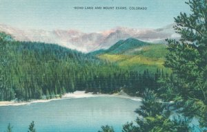 Echo Lake CO, Colorado on Highway Route to Mount Evans - Linen