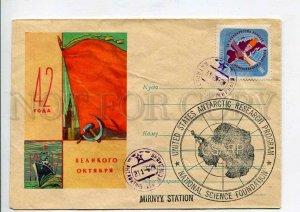 407867 1959 Antarctica station Mirny station Komsomolskaya station East