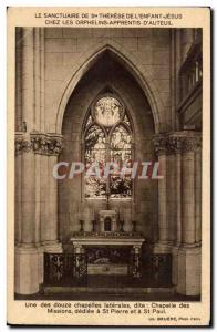 Shrine of St. Therese of the Jesus & # 39enfant Postcard Old Chapel of Auteui...