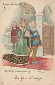 Proverbs Illustraded ; Better Late Than Never , 1904 ; TUCK