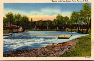 North Dakota Fargo Island Park Rapids and Dam Curteich
