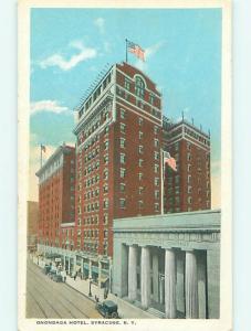 Unused W-Border OLD CARS & ONONDAGA HOTEL Syracuse New York NY u9515