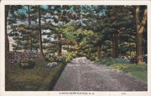 New Hampshire A Drive Near Alsted 1912