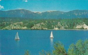 Canada Sailing On Lake Windermere British Columbia