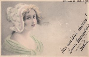 M.M.VIENNE : Female Head Portrait #7 , 1917