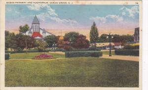 OCEAN GROVE, New Jersey, 1900-1910's; Ocean Pathway And Auditorium
