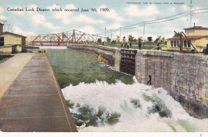 Canadian Lock Disaster 1909 , Ontario , Canada # 2