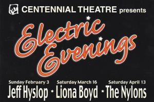 Centennial Theatre Presents Electric Evenings North Vancouver Canada