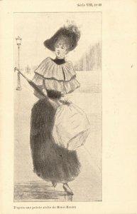 PC CPA ARTIST SIGNED, HENRI BOUTET, SÉRIE VII NO 60, Vintage Postcard (b25563)