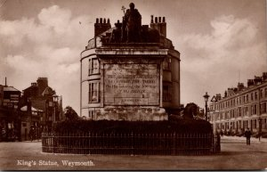 England Weymouth King's Statue