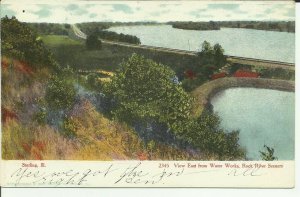 Sterling, Ill., View East From Water Works, Rock River Scenery