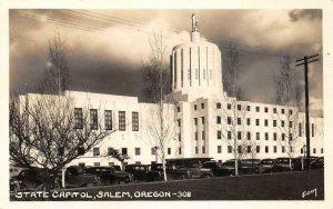RPPC State Capitol, Salem, Oregon c1930s Vintage Photo Postcard