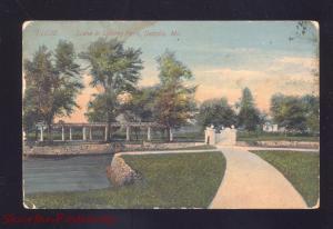 SEDALIA MISSOURI LIBERTY PARK SCENE 11038 ANTIQUE VINTAGE POSTCARD MO. 1907