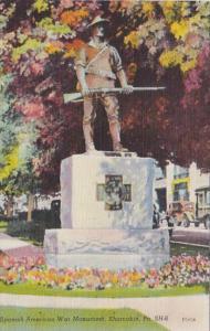 Pennsylvania Shamokin Spanish American War Monument